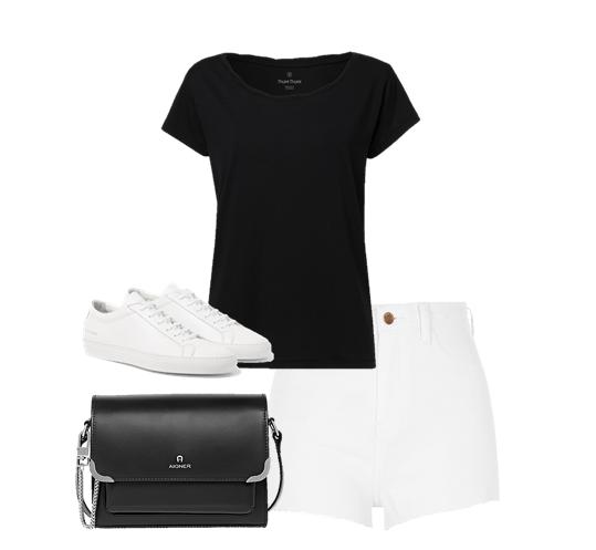 Cách phối đồ với quần short nữ trắng