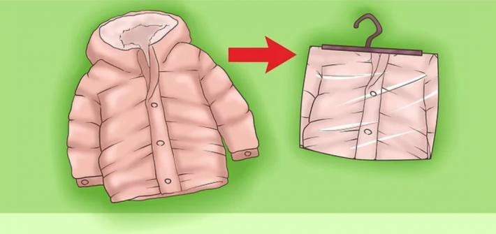 cách gấp áo phao trẻ em