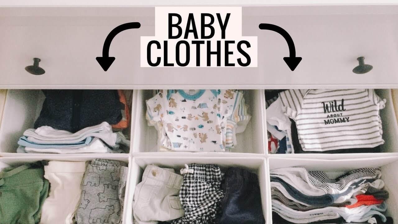 cách gấp quần áo cho trẻ sơ sinh
